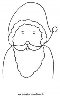 Malvorlagen - Ausmalbilder Nikolaus Weihnachten