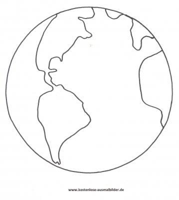 Malvorlagen - Ausmalbilder Erde Ausmalbilder Planeten