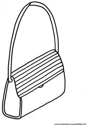 Handtasche Ausmalbild Haus Deko Ideen