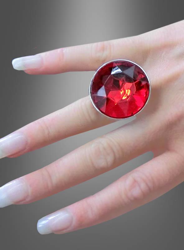 Diamantring mit rotem Stein bei Kostuempalastde