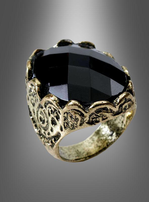 Mittelalter Ring mit Schmuckstein bei Kostmpalastde