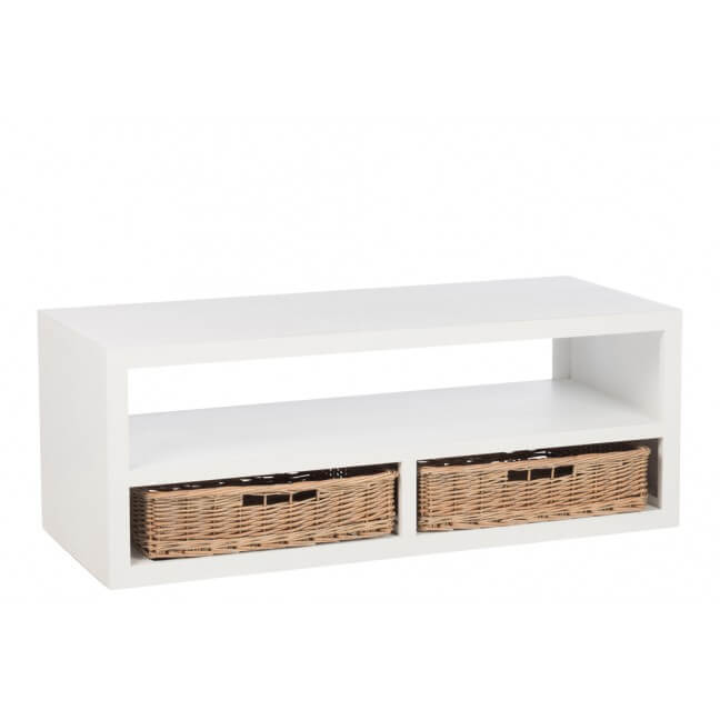 table basse en bois blanc