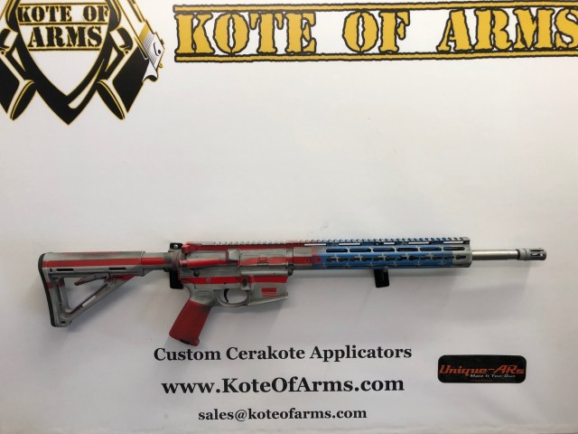 GunBroker Auction] Battle worn American Flag AR 15 with SS barrel