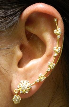 Pin Gold Full Ear Jhumka By Bhima Jewellery Pics on Pinterest