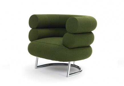 Upholstery Linen Chair Bibendum Eileen Gray