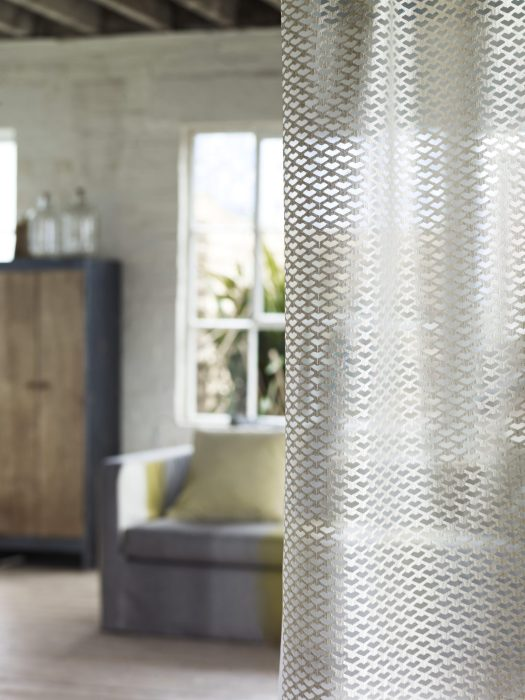Double width sheer fabric