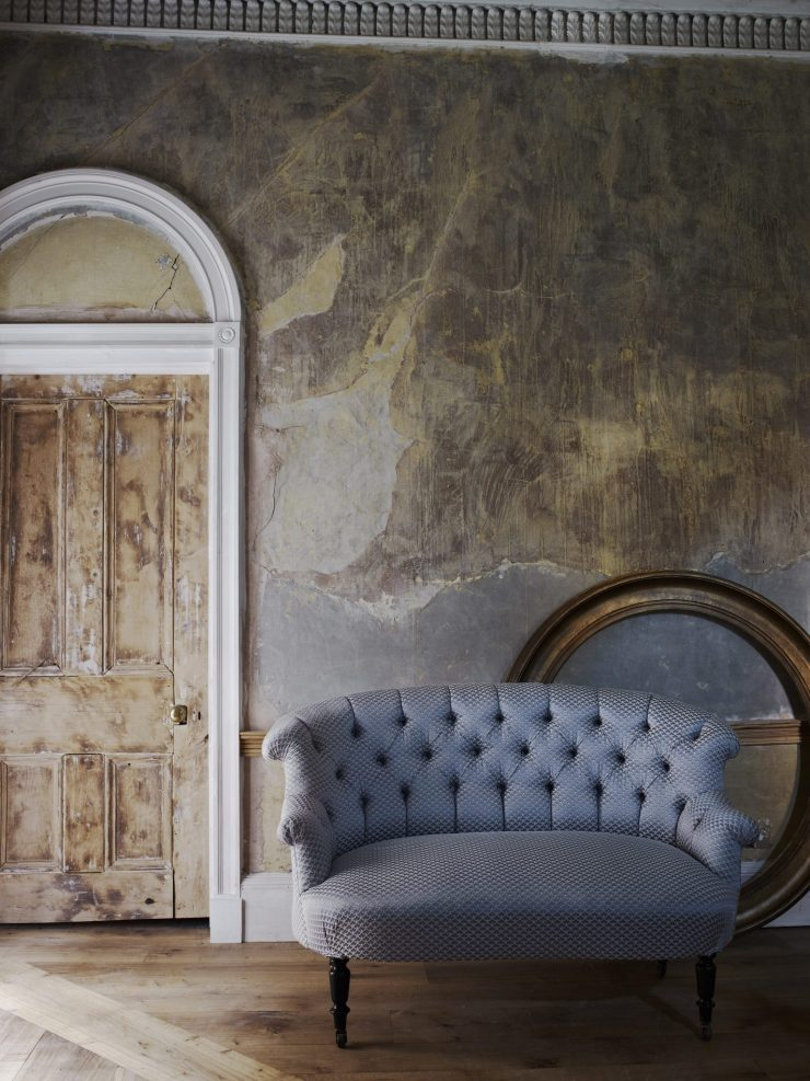 Off-White Textured Upholstery on Contemporary Seating