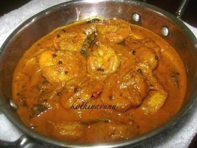 Chemmeen Thenga Pal Curry -Kerala Prawns Curry |kothiyavunu.com
