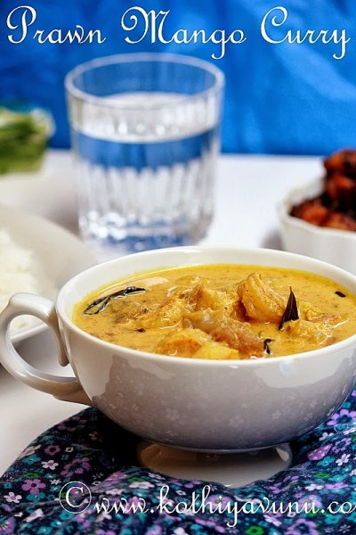 Prawn Mango Curry Recipe – Nadan Chemmeen Manga Curry Recipe