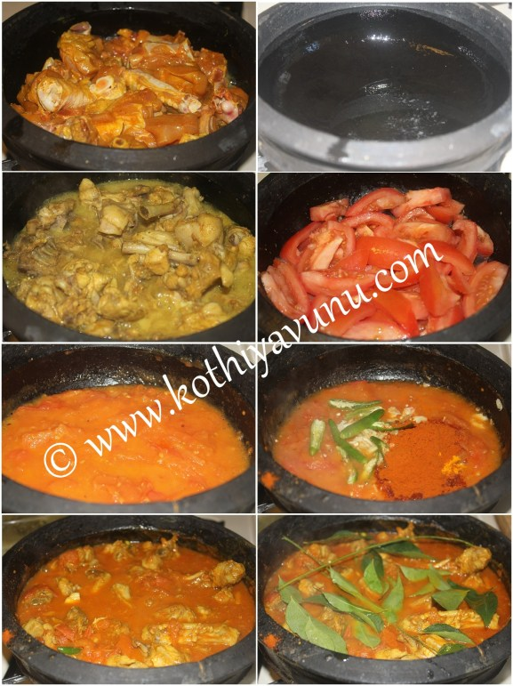 Tomato Chicken Curry Steps
