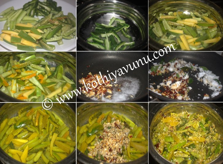 Vishu thoran-kani thoran-mixed vegetable thoran |kothiyavunu.com