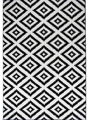 tapis de salon scandinave tavla en polypropylene 50 cm x 80 cm noir