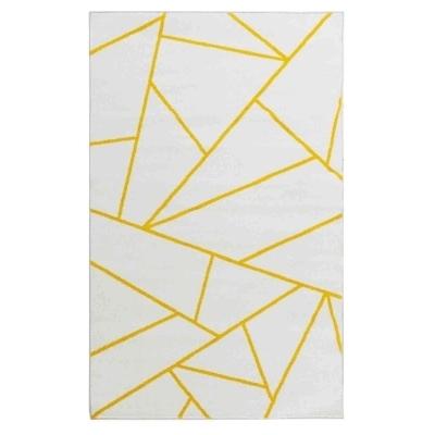 prisma petit tapis de salon moderne 50 x 80 cm blanc