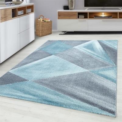delta tapis de salon 200 x 290 cm gris et bleu