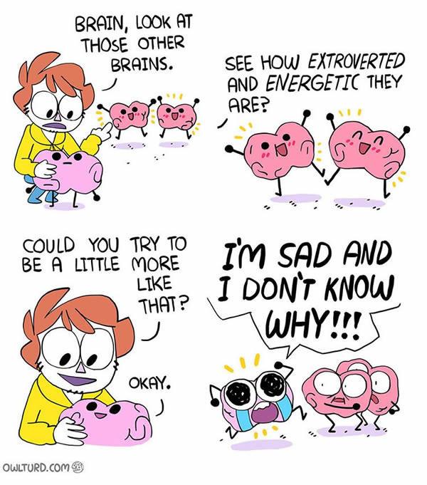 relatable comics of owl turd