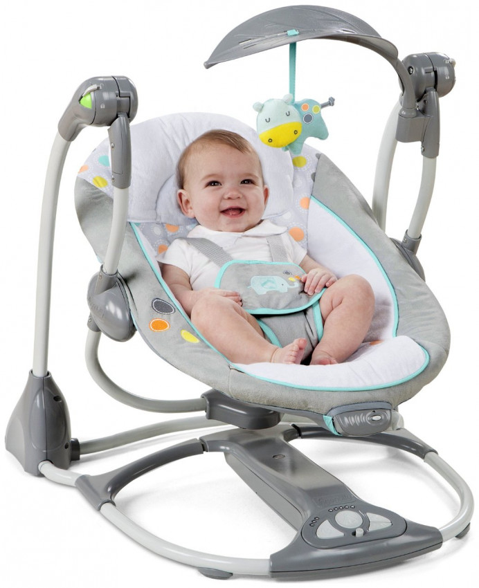 walker bouncing chair grey slipcover ingenuity convertme swing 2 seat convertible avondale