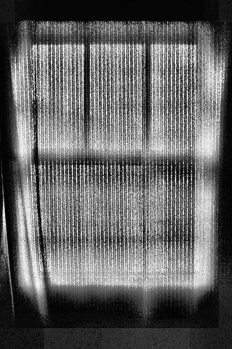 black and white window bedroom photo