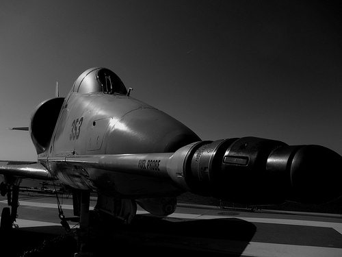 black and white american military photo
