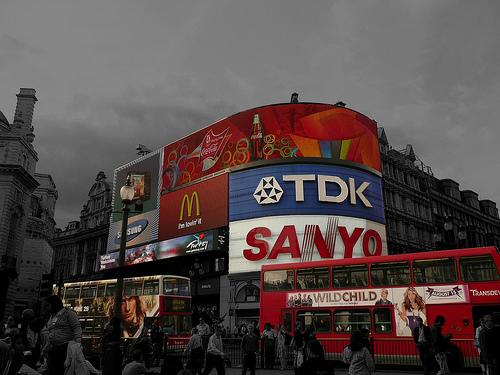 modern advertising black and white photo