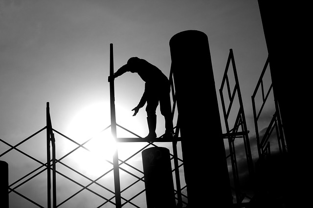 article about consumerism - black and white construction site