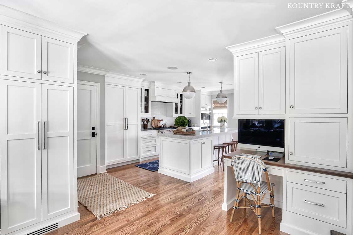 Custom Alpine White Cabinetry in Summit New Jersey