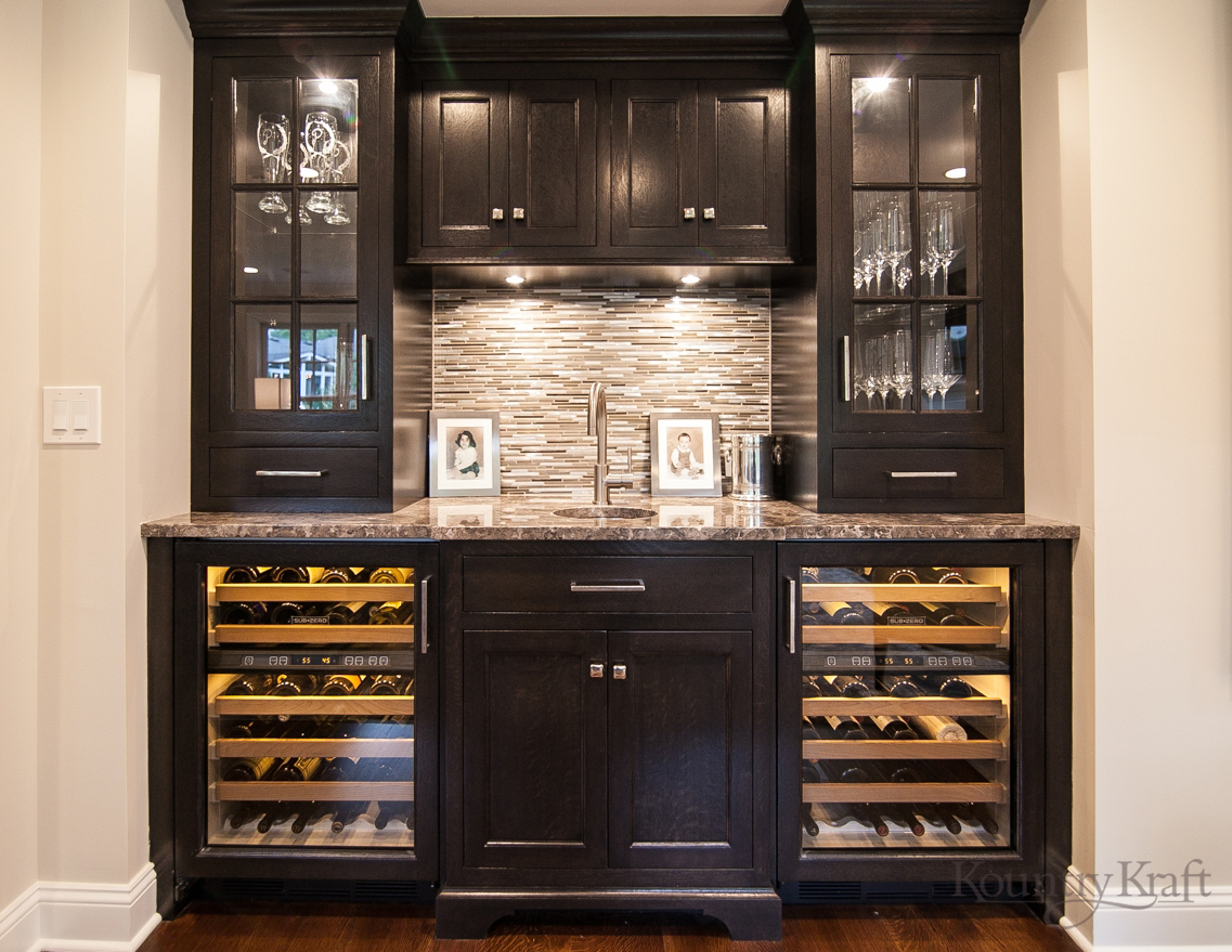 Custom Bar Cabinets in Madison NJ  Kountry Kraft