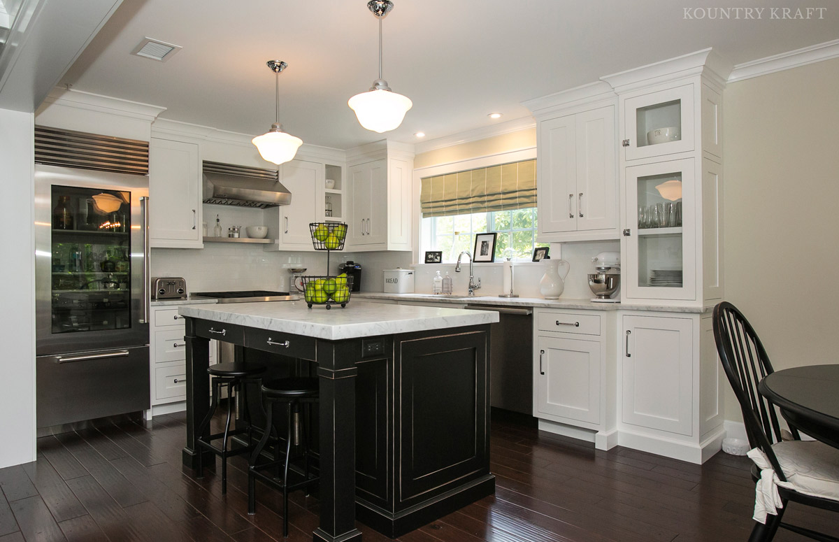 black kitchen islands island wood and white cabinets in chatham nj
