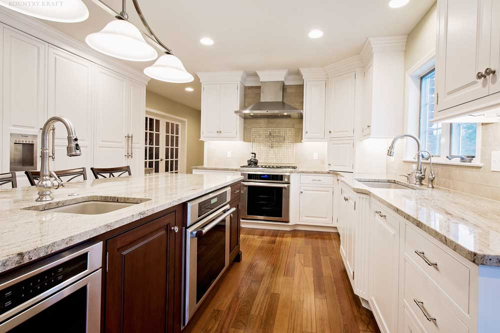 cherry wood kitchen cabinets fans with lights chantilly lace painted in wyomissing, pa