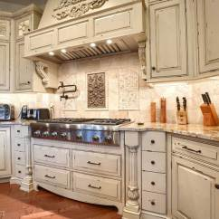 Antiqued Kitchen Cabinets Cleaning Supplies Custom Distressed In Mohnton Pennsylvania Century Vanilla Bean For Perimeter