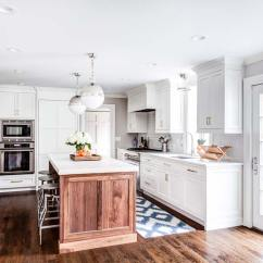 36 Inch Kitchen Cabinets Aid Pasta Attachments Natural Walnut Island In Summit, New Jersey
