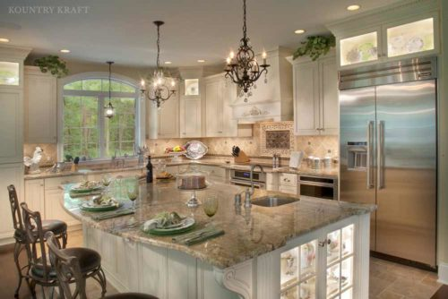 large kitchen island located in enola