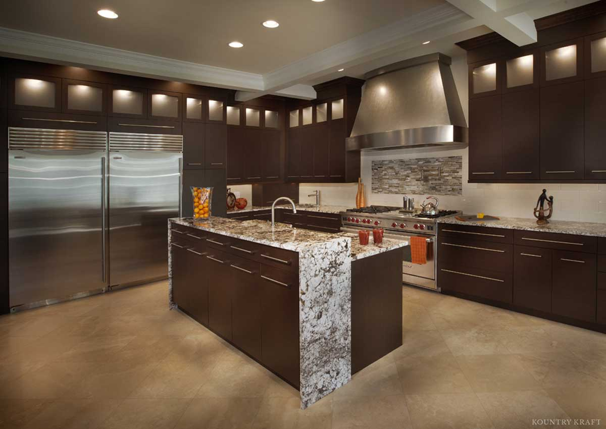 Modern Wenge Cabinets For A Kitchen Located In Vienna