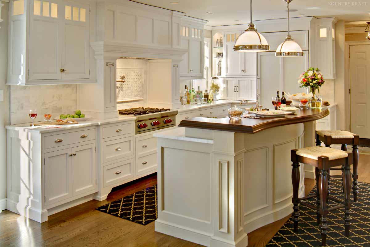 White Kitchen Cabinetry For A Kitchen Located In Chatham
