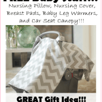 FREEEEE Baby Items!!!! Nursing Pillow, Nursing Cover, Breast Pads, Baby Leg Warmers, and Car Seat Canopy, $215 Value, FREE (with S&H)!!!!!