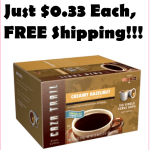 100ct Hazelnut KCups, Just $0.33, FREE Shipping!!! (Work With 1.0 and 2.0!)