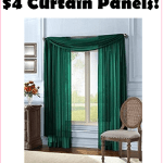 WOW! Sheer Curtain Panels, Just $4, Free Shipping!!! BEST PRICE!!!