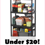 4 Tier Shelving Unit For Under $20! Holds 600 Pounds!!!