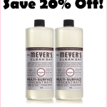 Save Over 20% On Mrs Meyers Giant Refill MultiSurface Concentrate, Just $6 Each Delivered!!!