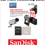 $24.99 SanDisk High Endurance Video Monitoring Card!!!