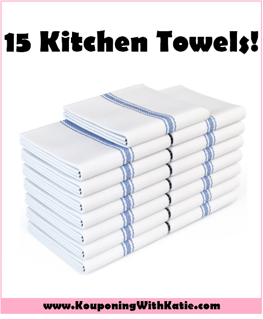 15 Pack Kitchen Towels For Just $12 With LIMITED TIME Promo
