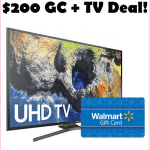 HOT Curved Smart 4K TV Deal + Free $200 Walmart Gift Card!!!