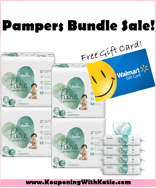 Hot Walmart Pampers Pure 4pk Diapers 4pk Wipes Free