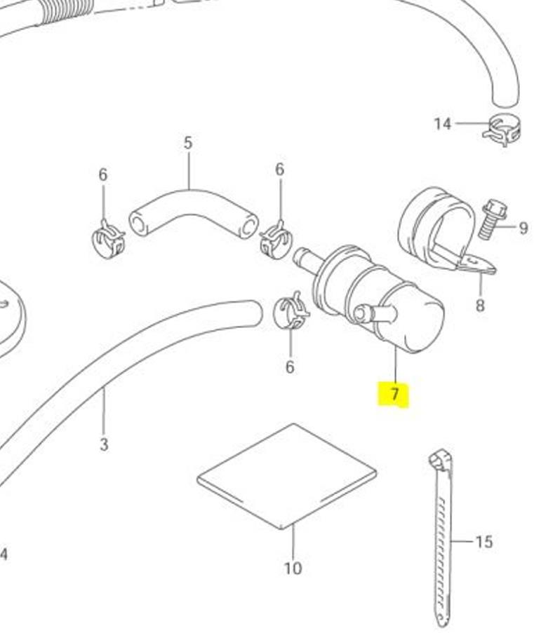 Suzuki OEM Replacement Fuel Filter VL1500 Intruder 98-04