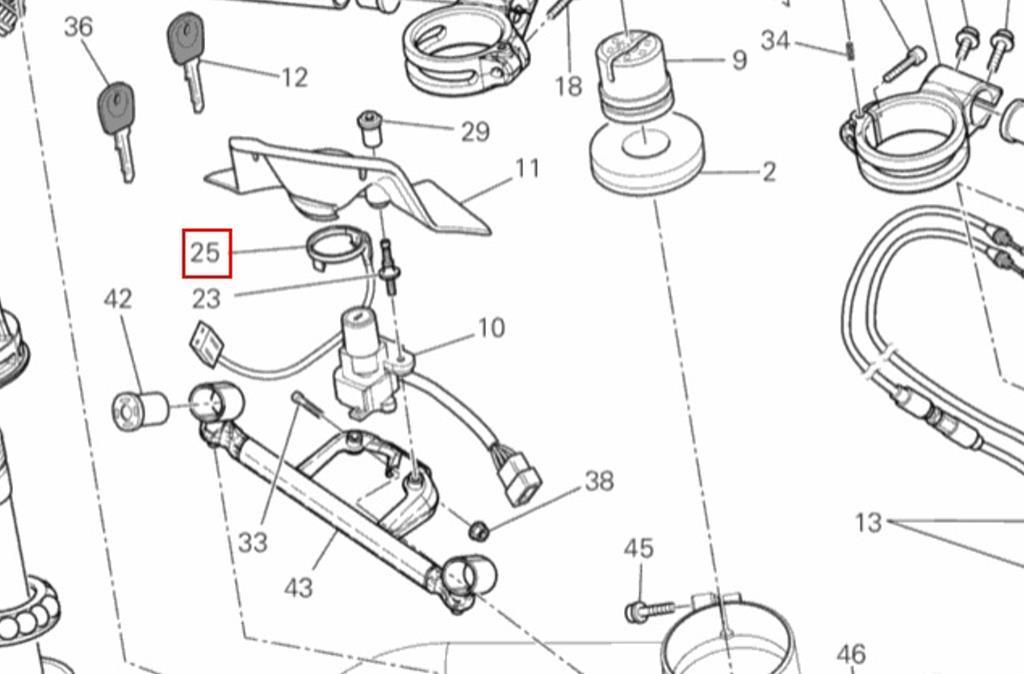 DUCATI OEM Bobina inmovilizador clave de Antena 51840042B
