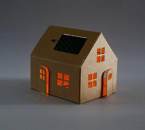 Casagami Original kartonnen huisjenachtlampje met