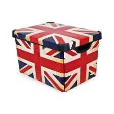 κουτί αποθήκευσης curver πλαστικό british flag