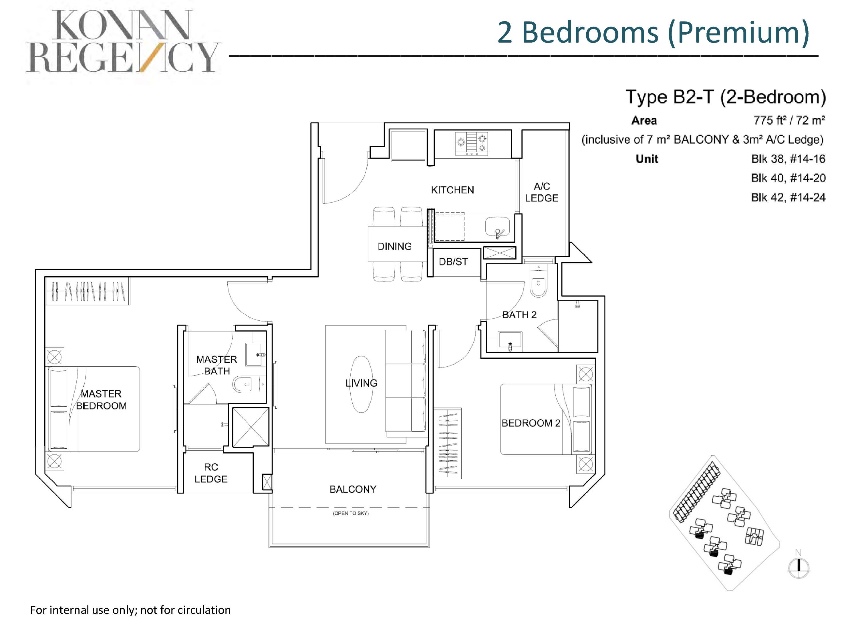 Kovan Regency 2 Bedroom Premium Floor Plans Type B2-T
