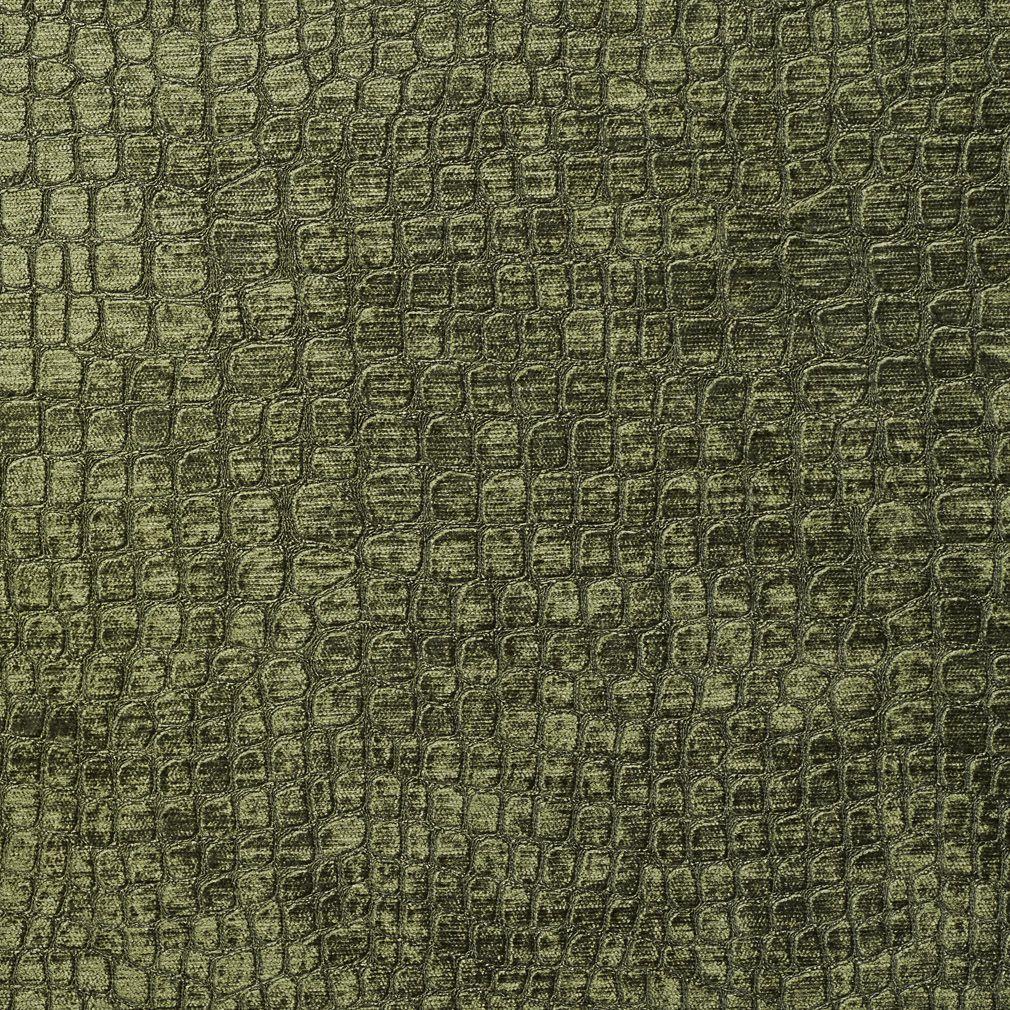 Red Animal Print Wallpaper Green Shiny Reptile Skin Look Velvet Upholstery Fabric
