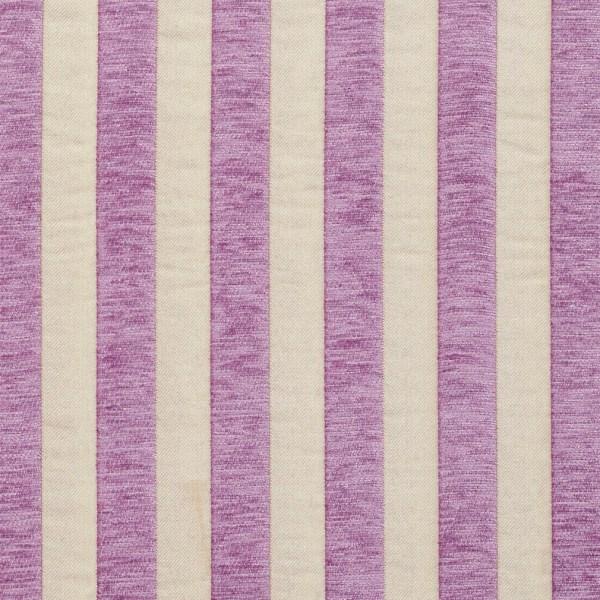 Lilac Purple And Tan Medium Scale Stripe Chenille