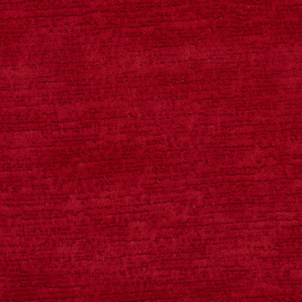 Ruby Red Solid Brushed Texture Soft Microfiber Velvet Upholstery Fabric